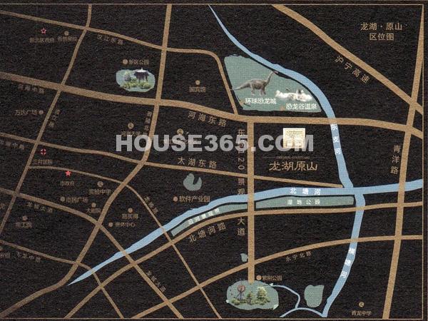 龙湖原山交通图