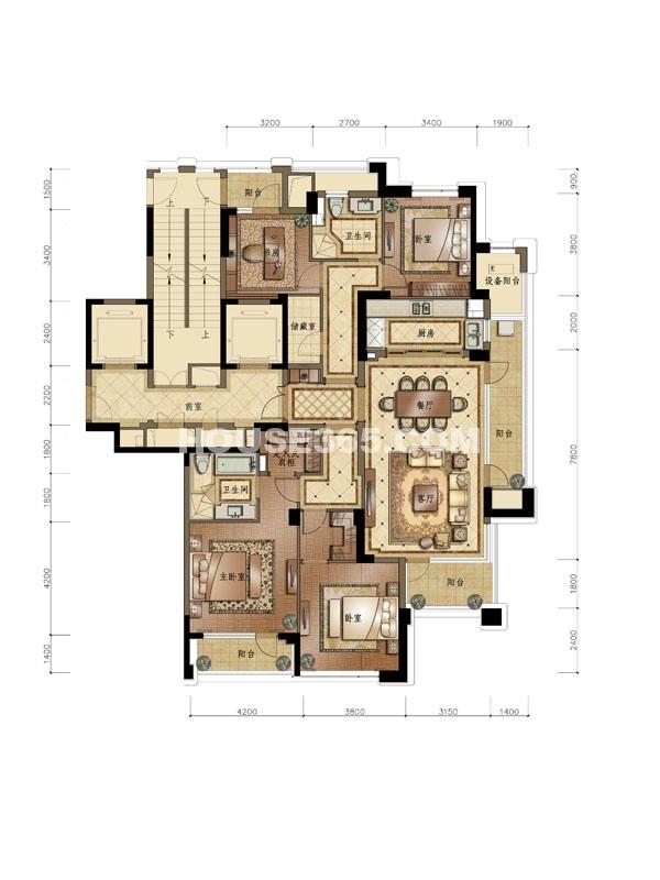 D1户型 4室2厅2卫