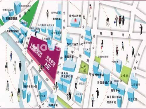 莱蒙国际电脑城交通图