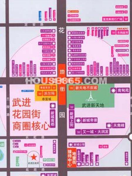 地壹街交通图
