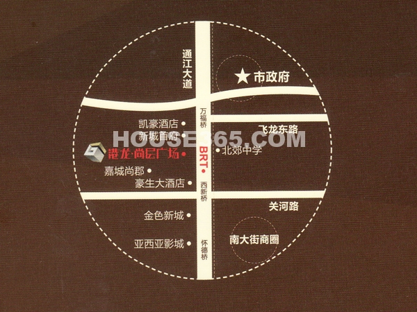 港龙中港城交通图