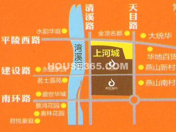 上河城交通图