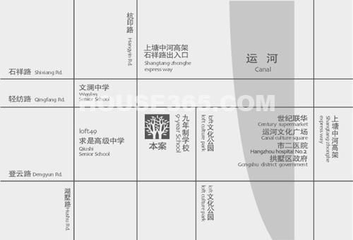 杭州新房 拱墅区楼盘 金瑞风景大院 (住宅)    户型:3室2厅面积