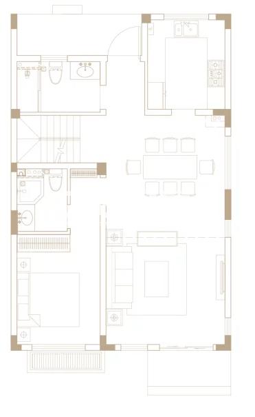 238平户型, 联排别墅-一楼