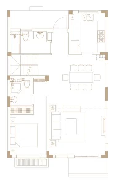 246平户型, 联排别墅-一楼