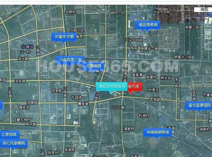 滨江时代综合体交通图