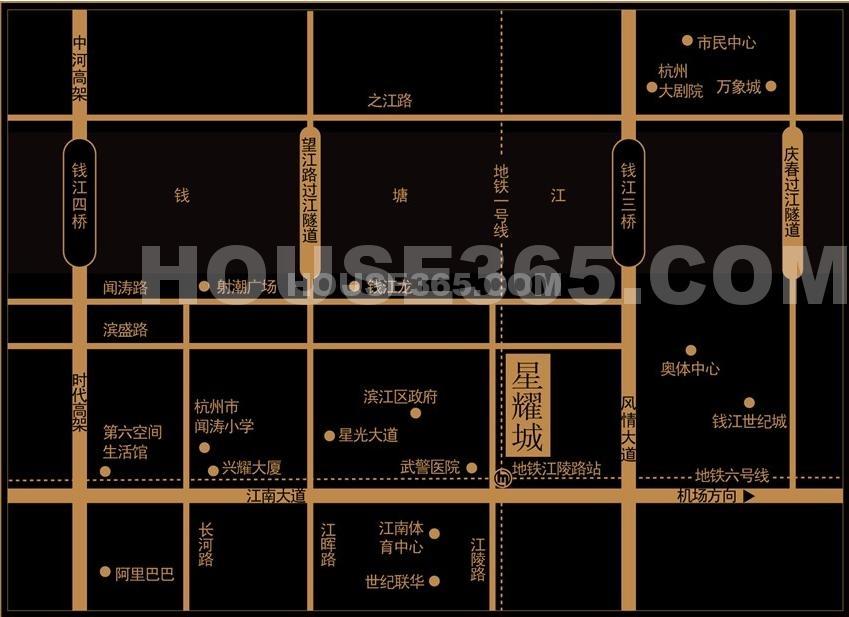 星耀城交通图