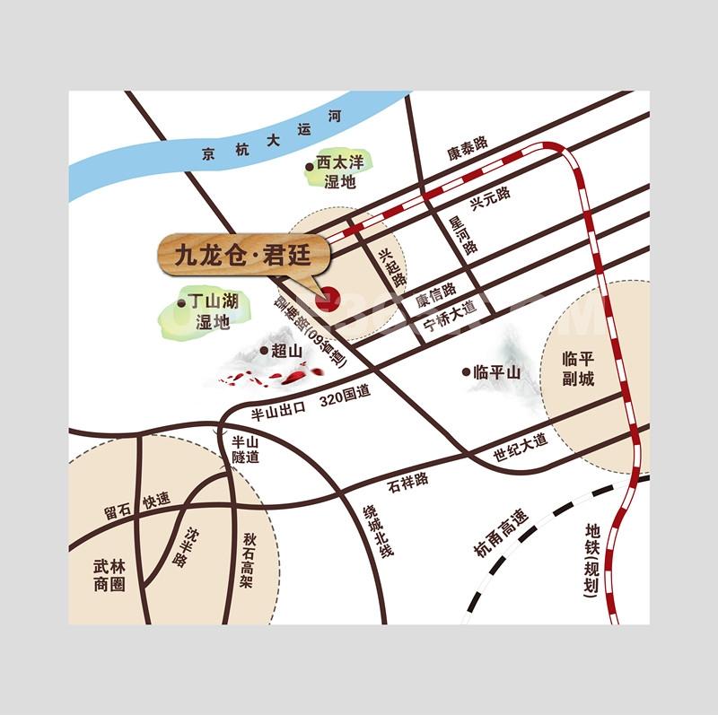 九龙仓君廷区位图