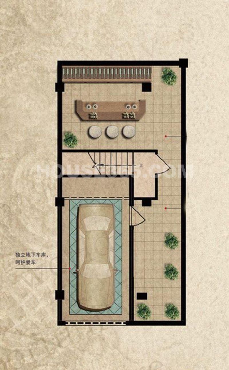 三盛颐景御园167平半地下层