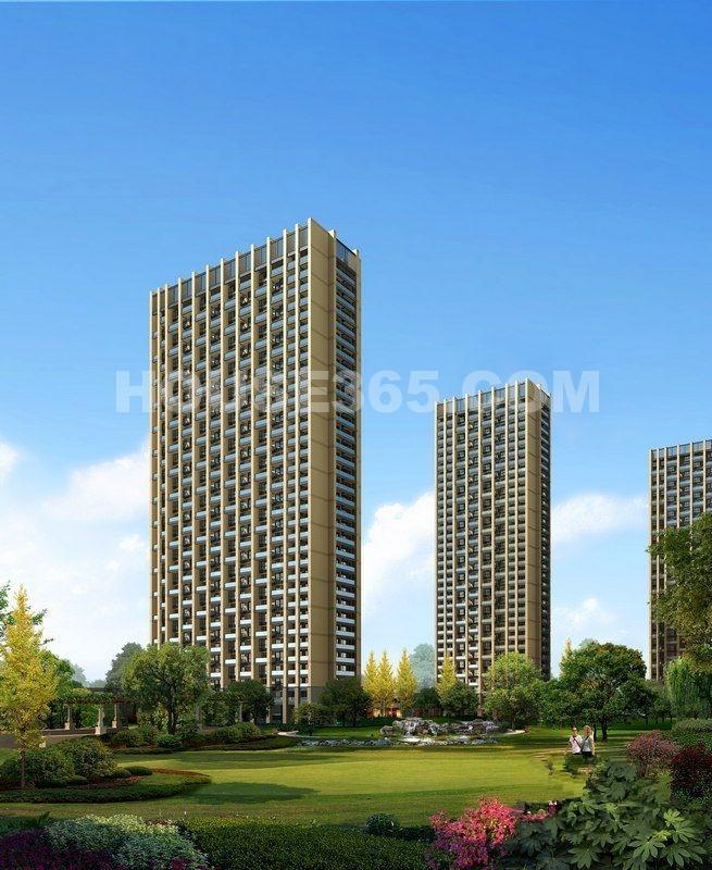 中天官河锦庭园区绿化效果图