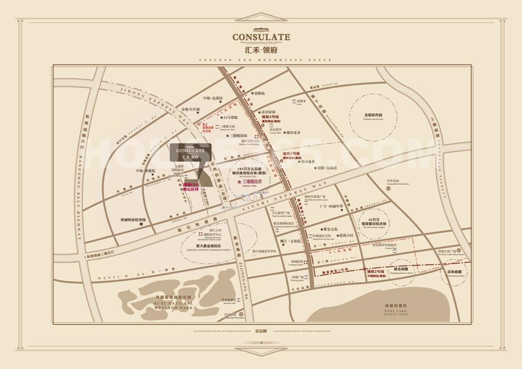 汇禾领府交通图