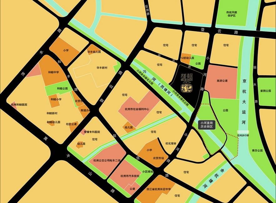 名城燕园交通图