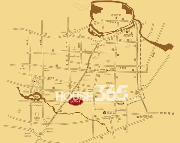 天下锦城交通图
