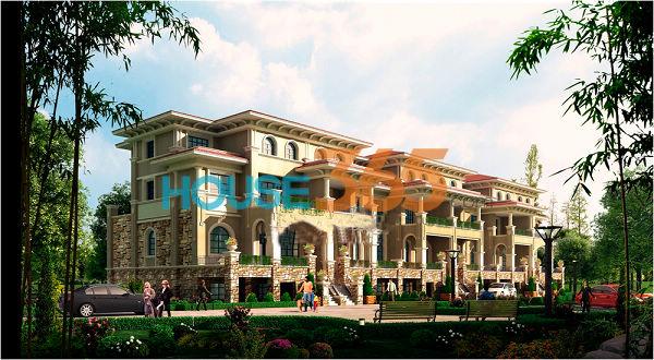 中国铁建国际城别墅效果图