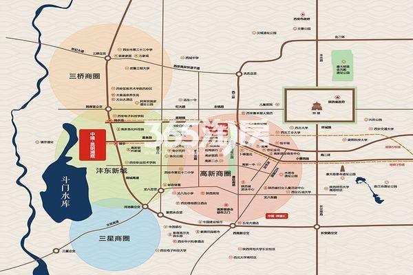 中建昆明澜庭交通图