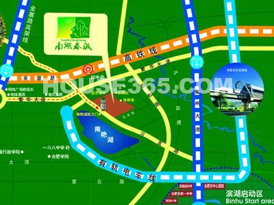 南湖春城交通图