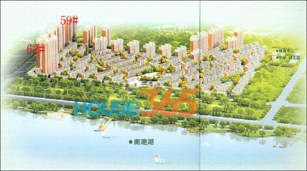 南湖春城鸟瞰图