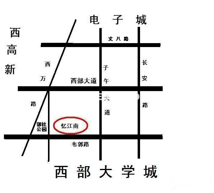 忆江南交通图