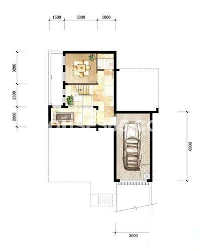 中粮本源小独栋别墅SFD-3-E-FR户型4室3厅3卫 260.00㎡
