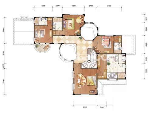 中粮本源大独栋地上二层6室3厅6卫1厨390.006室3厅6卫 390.00㎡
