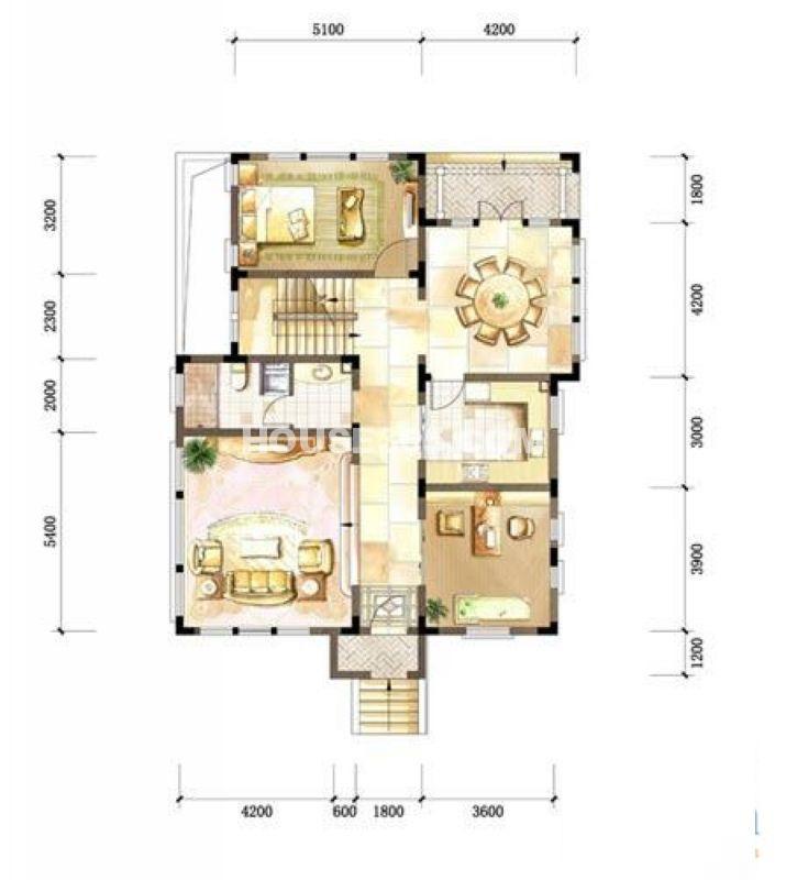 中粮本源小独栋地上一层4室3厅3卫1厨260.004室3厅3卫1厨 260.00㎡