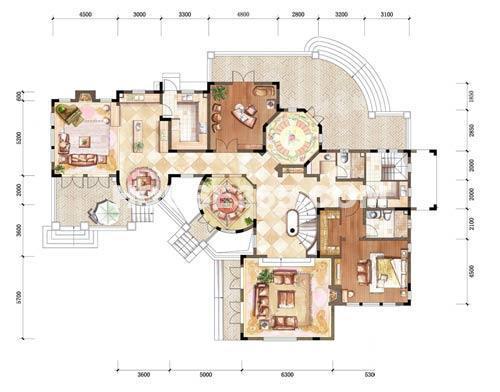 中粮本源大独栋地上一层6室3厅6卫1厨390.006室3厅6卫 390.00㎡