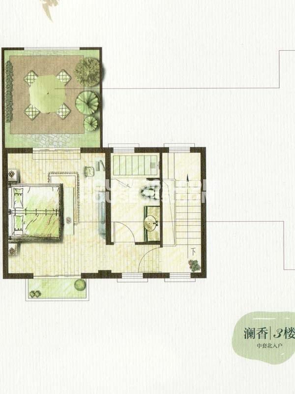 B户型澜香-4室2厅3卫-3楼(总户型面积338㎡)