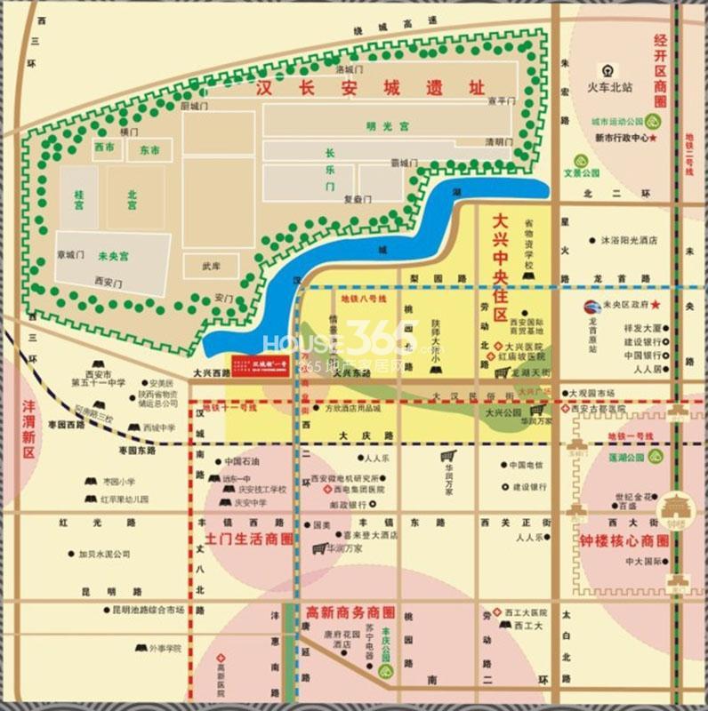 汉城湖壹号交通图