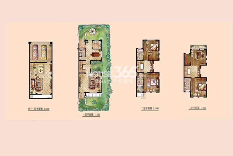 和融优山美地城墅户型图