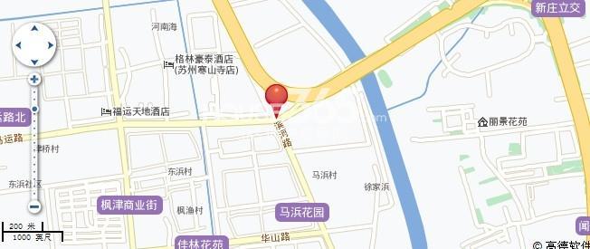 蓝天广场交通图