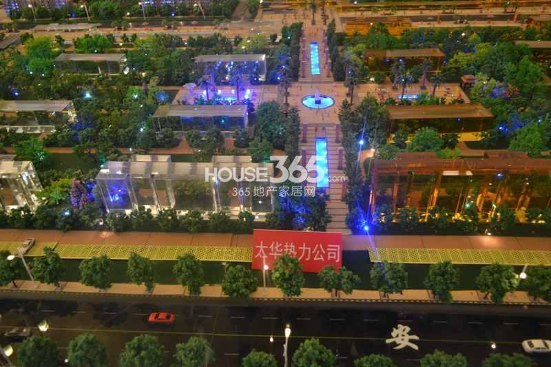 华远海蓝城休闲广场沙盘图