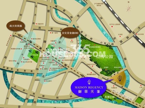 御翠园交通图