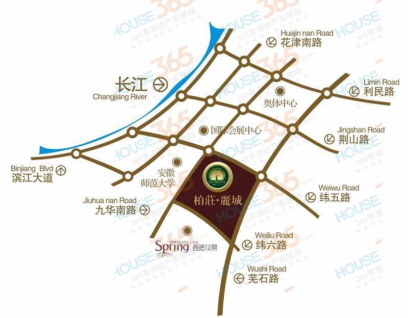 柏庄丽城交通图