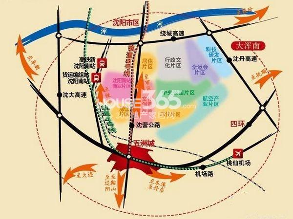 五洲城交通图