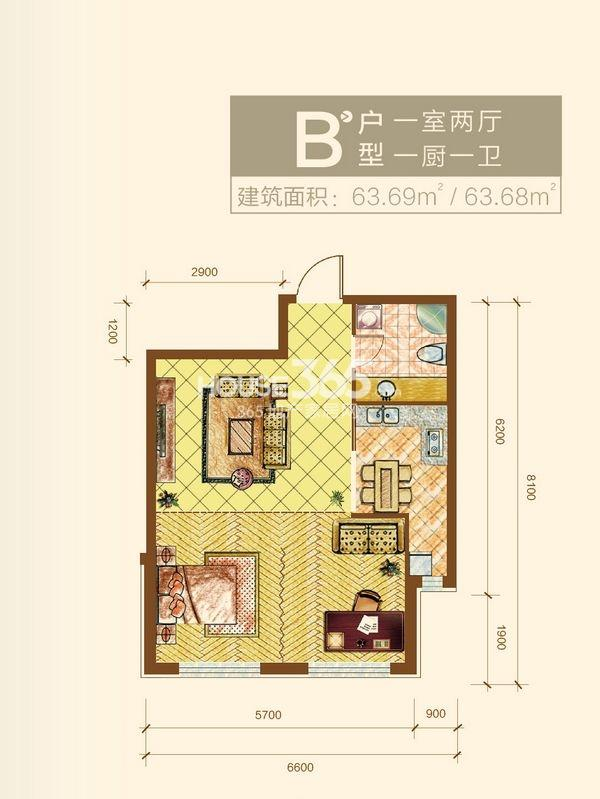 新华国际公寓B户型