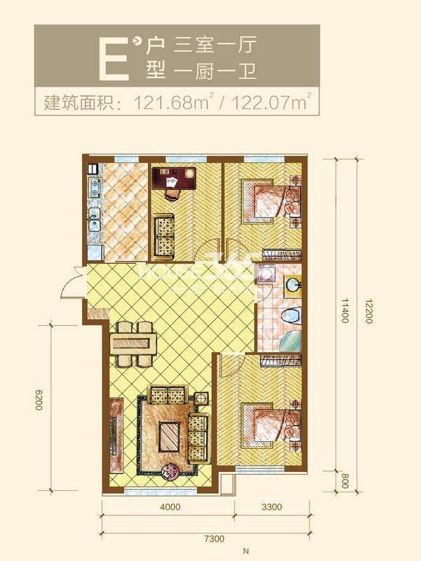新华国际公寓E户型