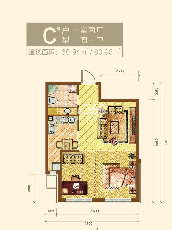 新华国际公寓C户型