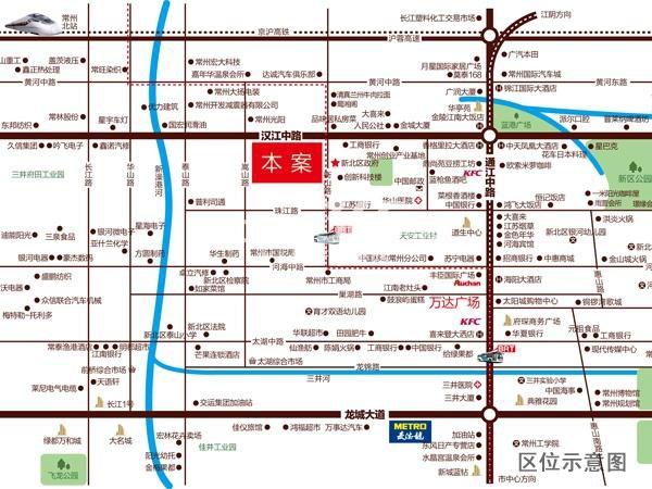 锦绣天地交通图