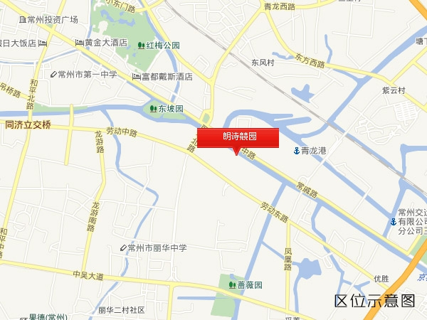 朗诗競园交通图