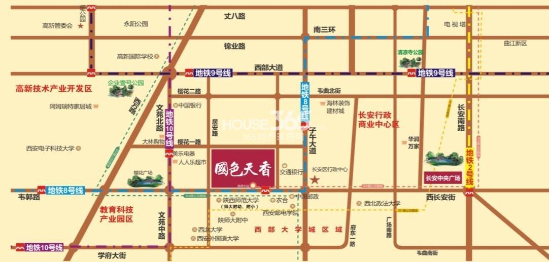 国色天香二期交通图