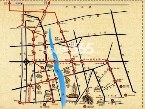罗托鲁拉小镇交通图