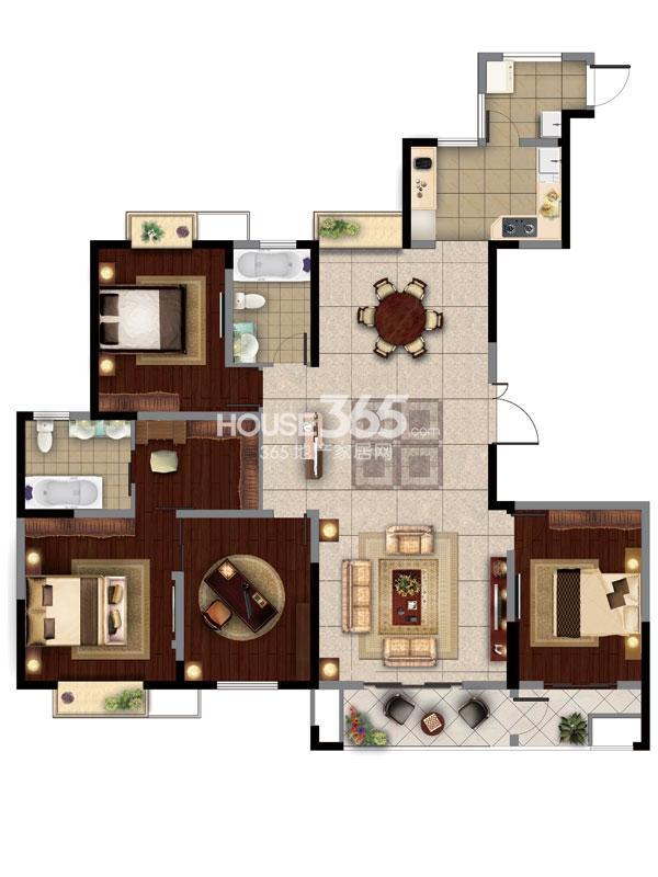 8#楼A  3房2厅2卫+奢适空间