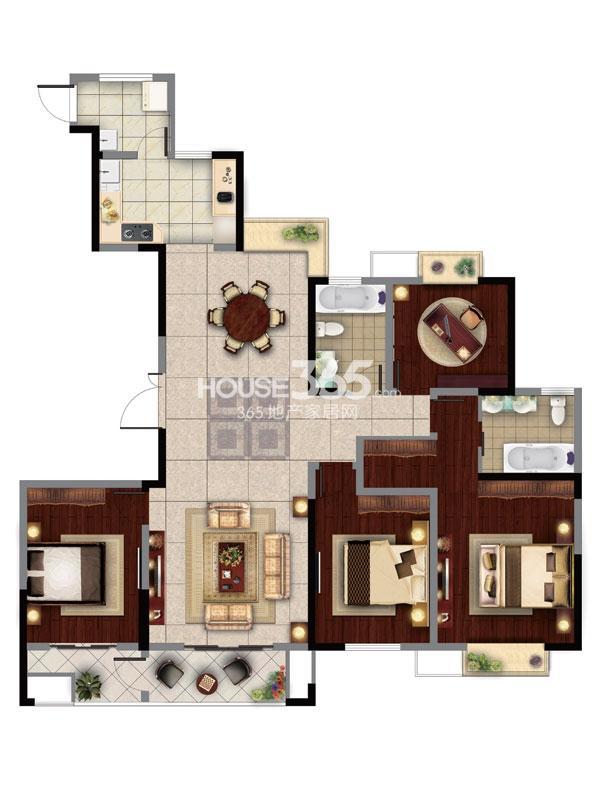 8#楼B  3房2厅2卫+奢适空间