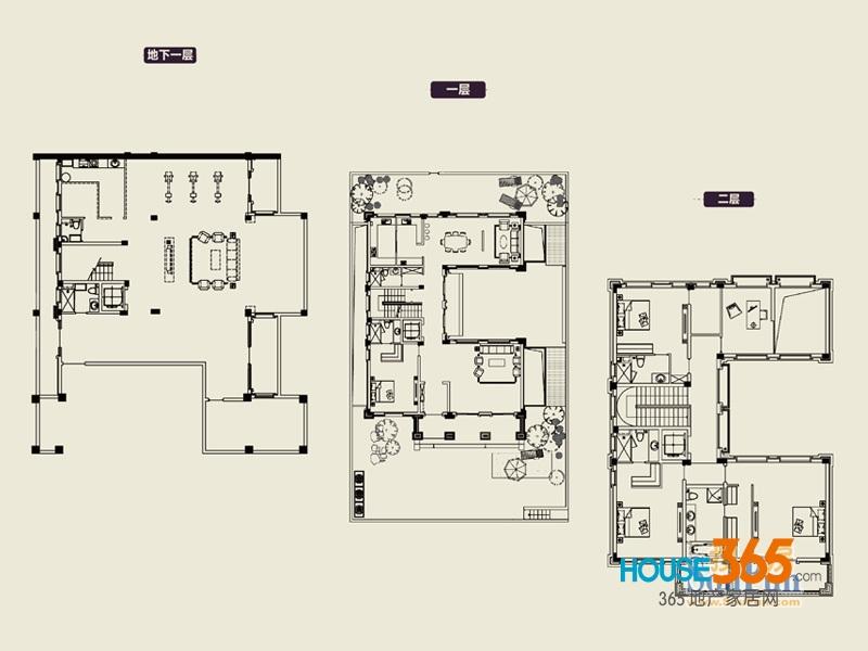 中海名门1期78#610㎡户型图4室3厅5卫1厨