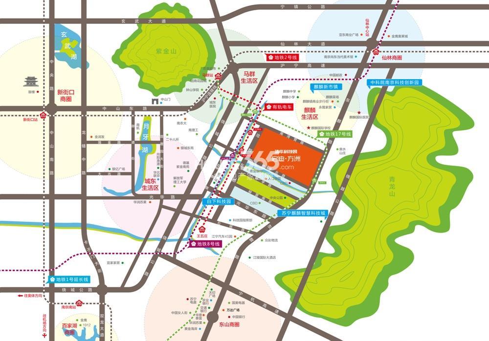 启迪方洲交通图
