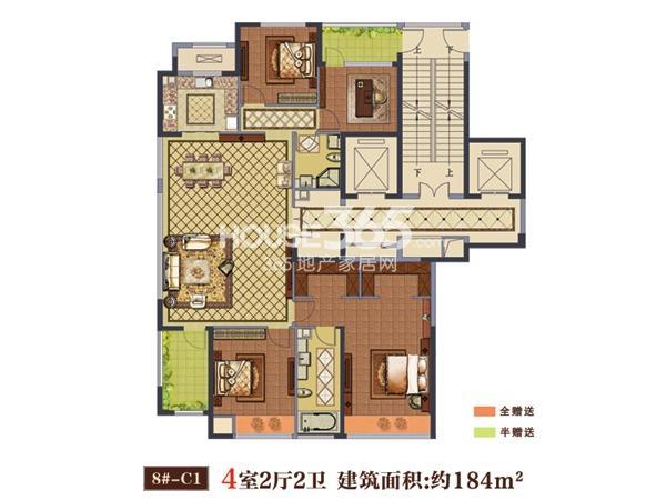 8#-C1户型  4室2厅2卫