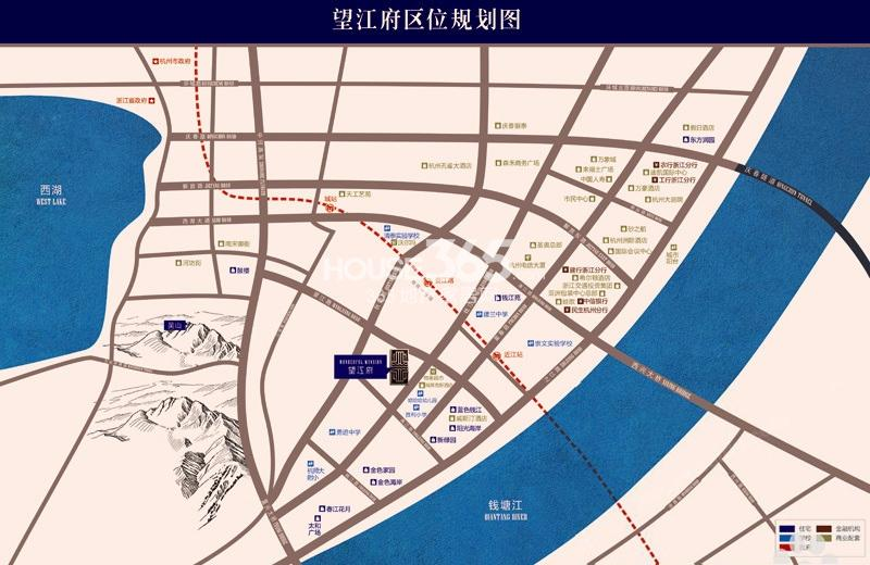 望江府交通图