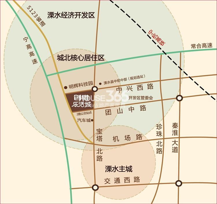 创维乐活城交通图