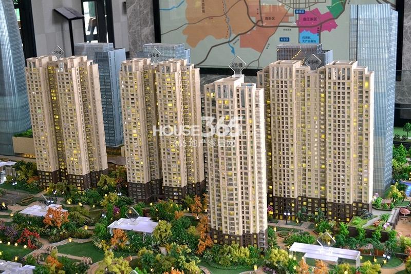 国润城在售住宅沙盘图(2013年7月15日)