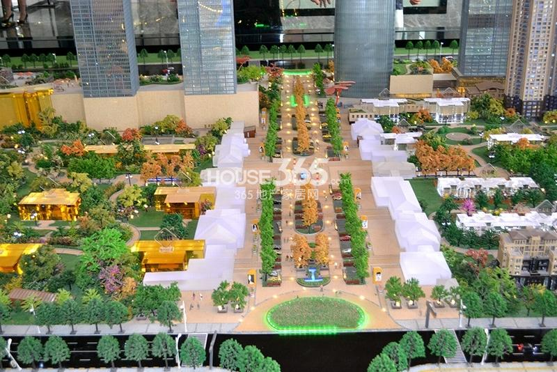 国润城商业步行街沙盘图(2013年7月15日)